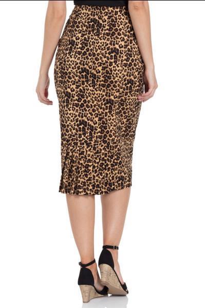 Grote foto voodoo vixen izzy leopard print wiggle skirt in small. kleding dames jurken en rokken