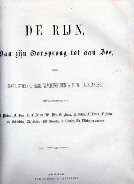 Grote foto de rijn van zijn oorsprong tot aan de zee 1880 boeken reisverhalen