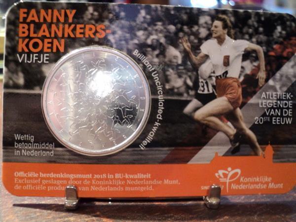 Grote foto exclusieve coincard fanny blankers koen vijfje postzegels en munten nederland