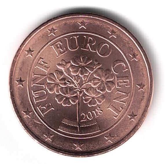 Grote foto oostenrijk 5 cent 2018 verzamelen munten overige