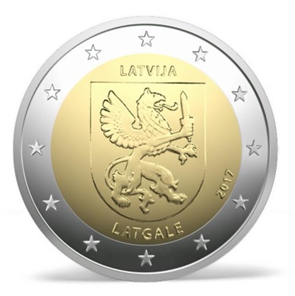Grote foto letland 2 euro 2017 letgallen verzamelen munten overige