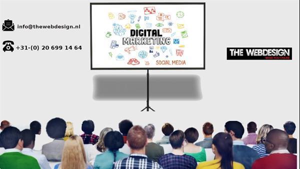 Grote foto full service digital marketing company diensten en vakmensen computer en internet experts