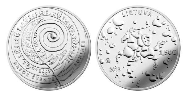 Grote foto litouwen 1 5 euro 2018 jonises rasos verzamelen munten overige