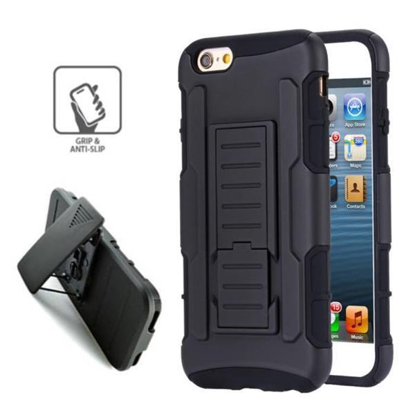 Grote foto iphone 6 future armor hard case cover cas hoesje zwart 0766 telecommunicatie mobieltjes