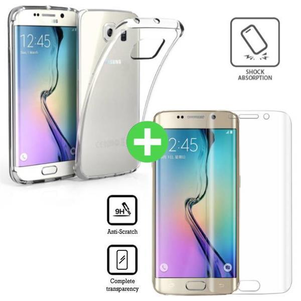 Grote foto samsung galaxy s6 edge transparant tpu hoesje screen prote telecommunicatie toebehoren en onderdelen