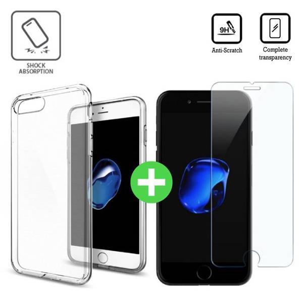 Grote foto iphone 7 transparant tpu hoesje screen protector tempered telecommunicatie toebehoren en onderdelen