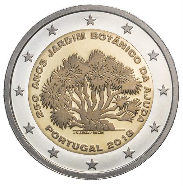Grote foto portugal 2 euro 2018 botanische tuin verzamelen munten overige