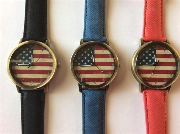 Grote foto american flag horloge artikelnummer hor r z b verzamelen overige verzamelingen