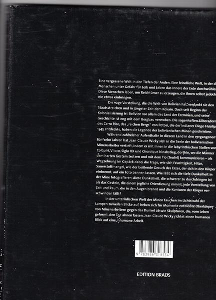 Grote foto jean claude wicky mineros bolivia boeken fotografie en design