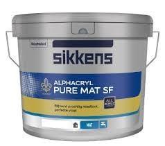 Grote foto sikkens alphacryl pure mat sf 10 liter doe het zelf en verbouw verven en sierpleisters
