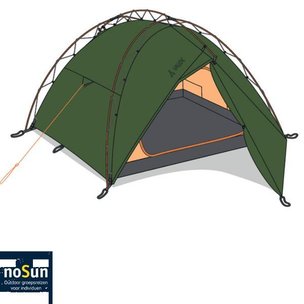 Grote foto gebruikte terraquattro 3p vaude tent 2018 fp caravans en kamperen tenten