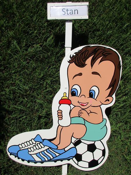 Grote foto geboortebord voetballer geweldige keuze. kinderen en baby overige babyartikelen