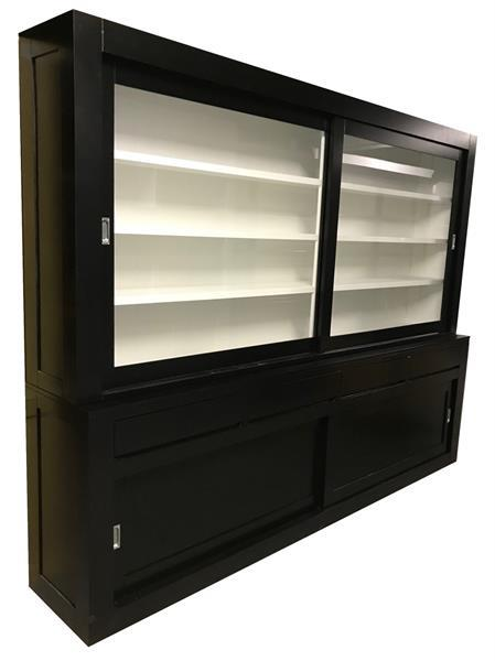 Grote foto buffetkast design soft close zwart wit 280 x 220 huis en inrichting buffetkasten