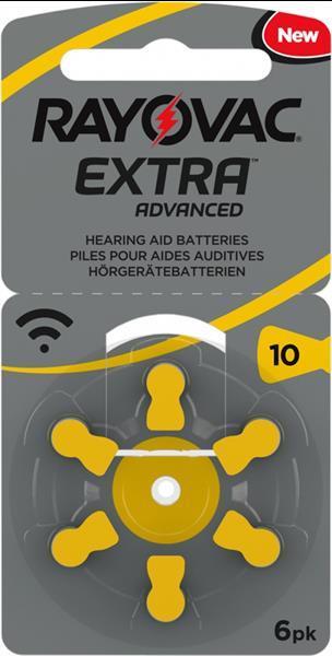 Grote foto rayovac extra advanced 10 hoortoestelbatterijen diversen verpleegmiddelen en hulpmiddelen