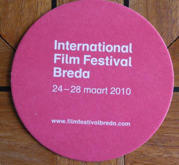 Grote foto bierviltje van het int. film festival breda 2010. verzamelen biermerken