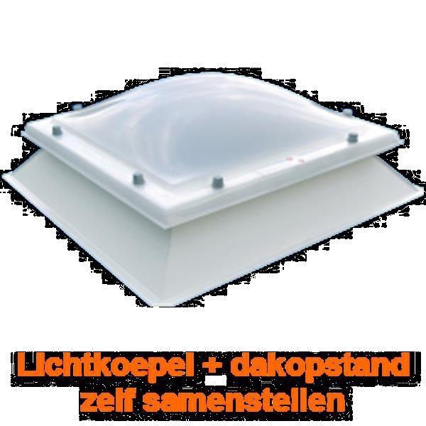 Grote foto lichtkoepel met dakopstand dagmaat 100x130 cm doe het zelf en verbouw glas en ramen
