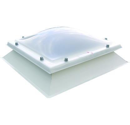 Grote foto lichtkoepel met dakopstand dagmaat 50x50 cm doe het zelf en verbouw glas en ramen