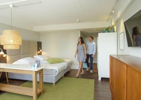 Grote foto kamer suite met duinzicht de koog vakantie nederland noord