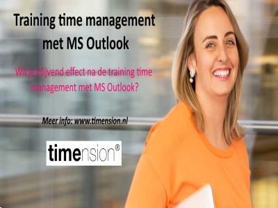Grote foto training time management met outlook diensten en vakmensen cursussen en workshops