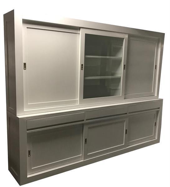 Grote foto buffetkast design wit dichte zijdeuren 300 x 220cm huis en inrichting buffetkasten