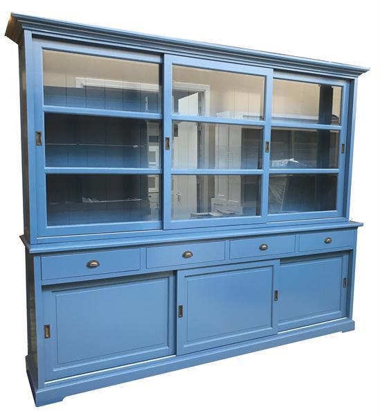 Grote foto blauwe buffetkast 280 x 210cm blauw binnen huis en inrichting buffetkasten