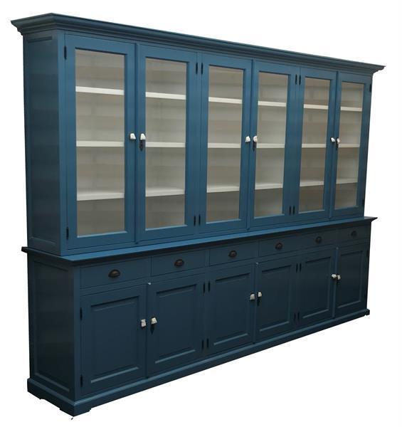 Grote foto grote landelijke blauwe buffetkast 310 x 220cm huis en inrichting buffetkasten