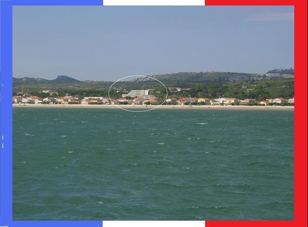 Grote foto panorama zeezicht wifi app in narbonne plage vakantie frankrijk