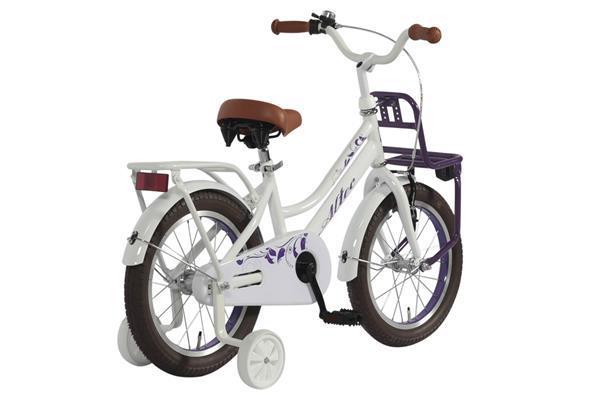 Grote foto umit princess meisjesfiets 14 inch paars poppenzitje fietsen en brommers kinderfietsen