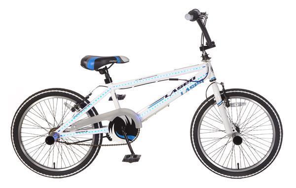 Grote foto bmx laser 20 inch wit led fietsen en brommers algemeen