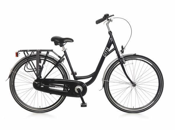 Grote foto city stadsfiets 28 inch zwart fietsen en brommers damesfietsen