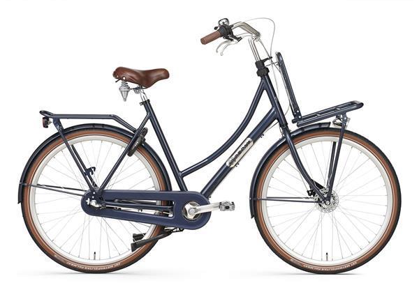 Grote foto daily dutch prestige n3 rb transportfiets 28 inch donker bla fietsen en brommers damesfietsen