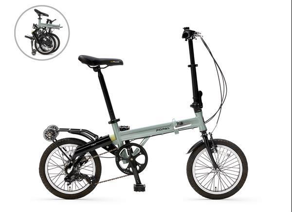 Grote foto popal f1602 16 inch silver mint fietsen en brommers elektrische fietsen