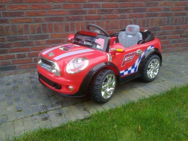 Grote foto mini cooper one 12v roze kinderen en baby los speelgoed