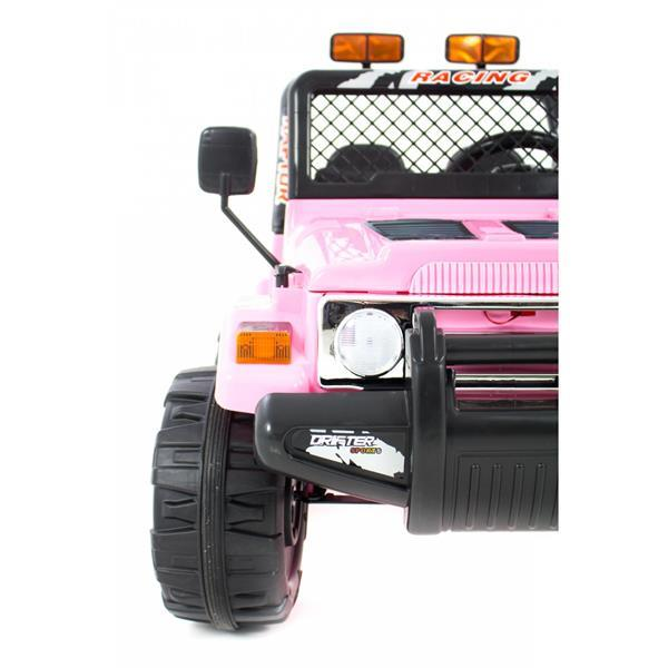 Grote foto jeep wrangler look 4x4 jeep 12v roze kinderen en baby los speelgoed
