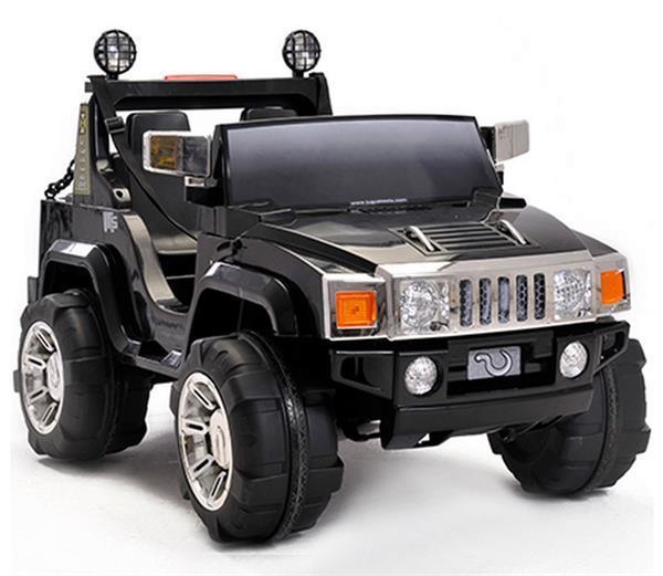 Grote foto hummer h2 2 persoons jeep zwart fm radio kinderen en baby los speelgoed