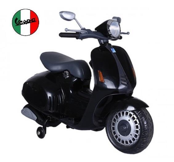 Grote foto vespa scooter zwart 12v multimedia kinderen en baby los speelgoed