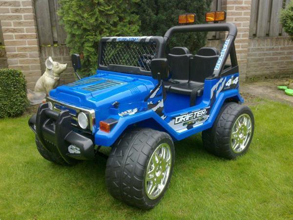 Grote foto jeep wrangler look 4x4 jeep 12v blauw kinderen en baby los speelgoed