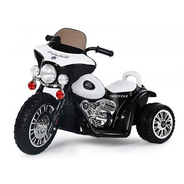 Grote foto harley politiemotor look 6v zwart kinderen en baby los speelgoed