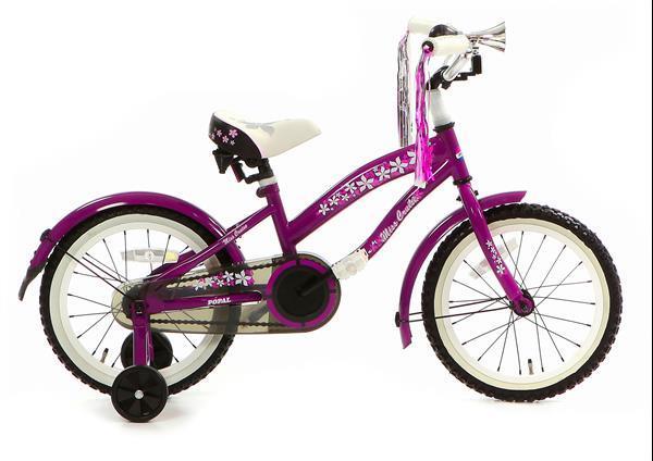 Grote foto bela 16 inch meisjesfiets paars fietsen en brommers algemeen