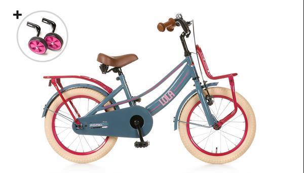 Grote foto lola meisjesfiets 16 inch donkergrijs fietsen en brommers kinderfietsen