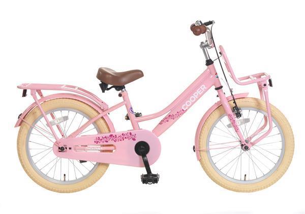 Grote foto cooper meisjesfiets 18 inch roze voorrek fietsen en brommers kinderfietsen