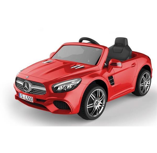 Grote foto mercedes sl500 12v metallic rood 2.4ghz leer bluetooth kinderen en baby los speelgoed