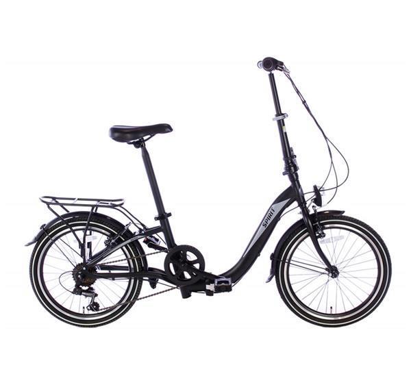 Grote foto spirit vouwfiets bend 6 speed mat zwart lage instap fietsen en brommers elektrische fietsen