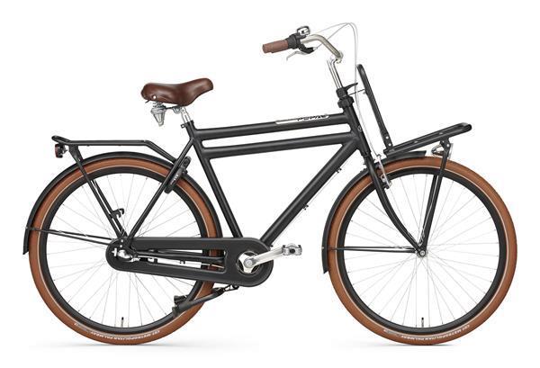 Grote foto daily dutch prestige n3 rn 28 inch transportfiets mat zwart fietsen en brommers herenfietsen
