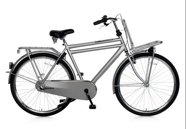 Grote foto daily dutch basic 28 inch transportfiets grijs fietsen en brommers herenfietsen
