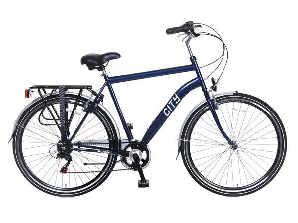 Grote foto city 6 versnellingen stadsfiets 28 inch blauw fietsen en brommers herenfietsen