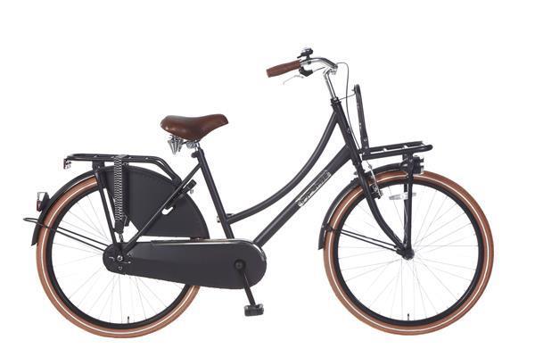 Grote foto daily dutch basic 26 inch transportfiets mat zwart fietsen en brommers damesfietsen