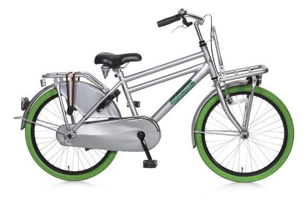 Grote foto daily dutch basic 22 inch jongensfiets groen grijs fietsen en brommers kinderfietsen