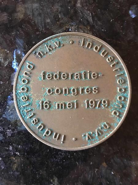 Grote foto federatiegongres 16 mei 1979 industriebond verzamelen munten overige