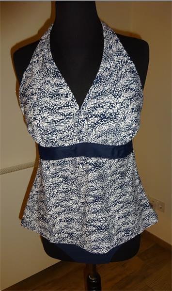 Grote foto tankini nieuw maat 48 blauw wit zit nog in de kleding dames badmode en zwemkleding